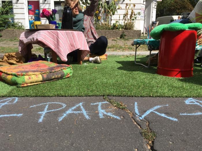 Ein Friedenauer Parkplatz wird zum Mini-Park