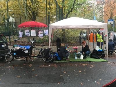 Kiezidee aus dem Kiezlabor: Parkplatz zu Begegnungsraum