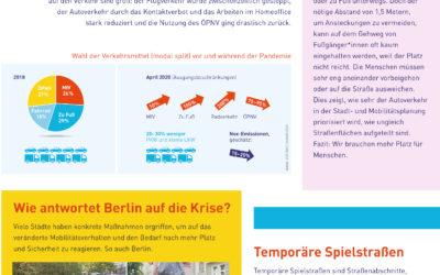 Factsheets: Verkehrswende in Pandemiezeiten & Friedenau